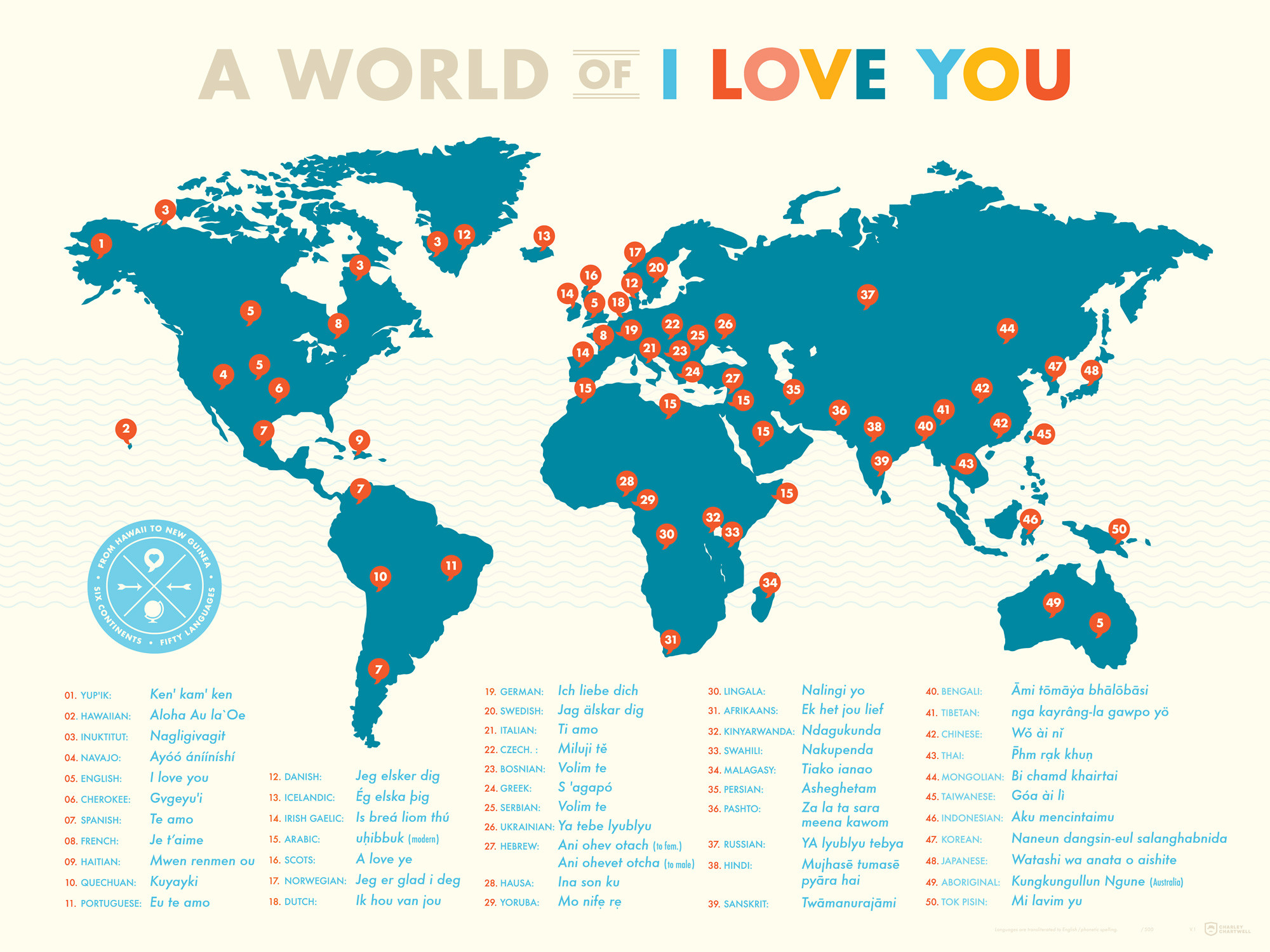 a world of i love you map