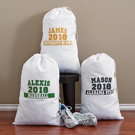 school colors laundry bag
