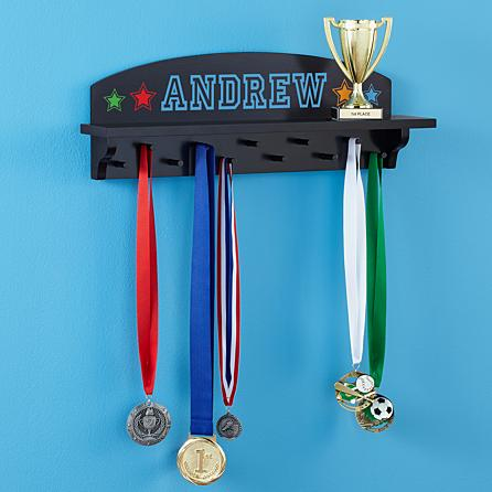 trophy and medal display