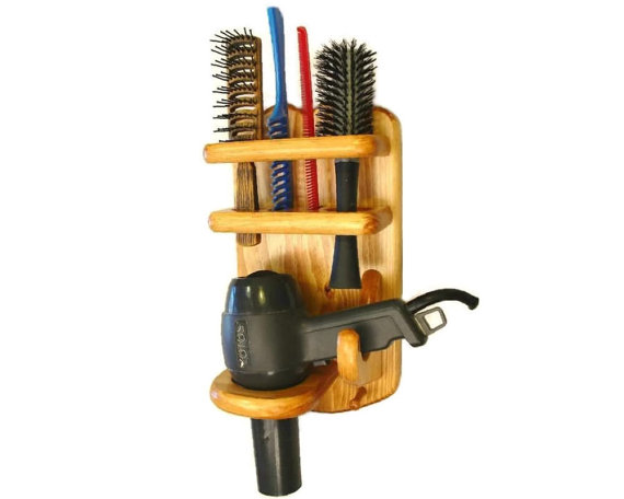 Bathroom Organizer (with Flat Iron, Curling Iron, Hair Dryer, and Brush and Comb Holders) by Twin Mountain Collections