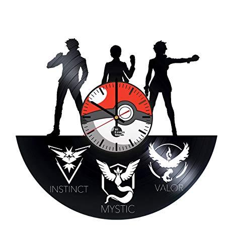handmade vinyl record pokemon go wall clock