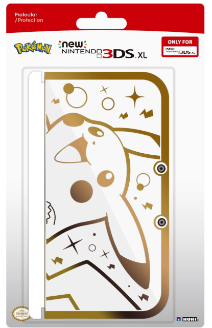 pikachu premium gold protector for new nintendo 3ds-xl