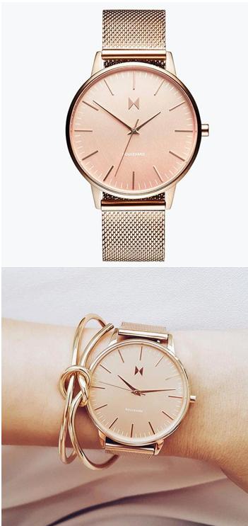 Hermosa Rose Gold Steel Watch from MVMT