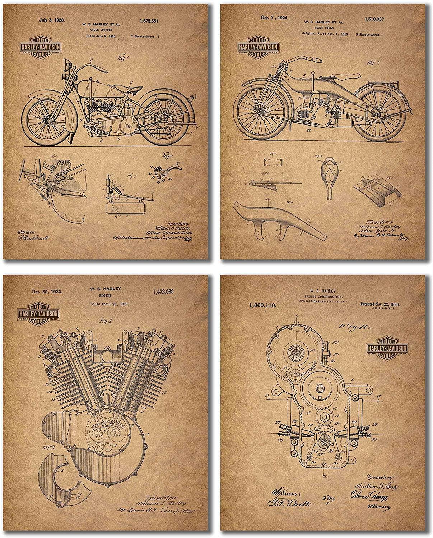 hardley davidson prints