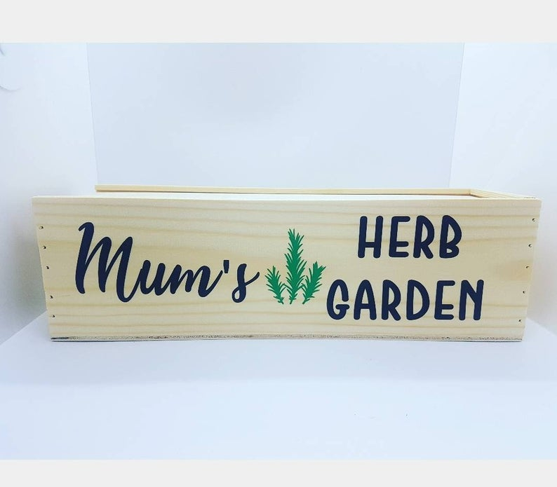 Personalised Herb or Chilli Garden Box Window Box Indoor image 0