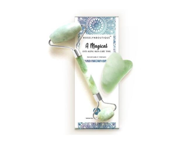 roselynboutique natural jade roller