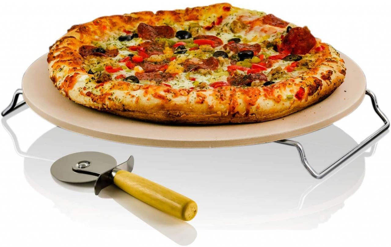 ovente ceramic pizza set
