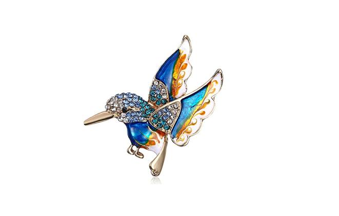 hummingbird broche