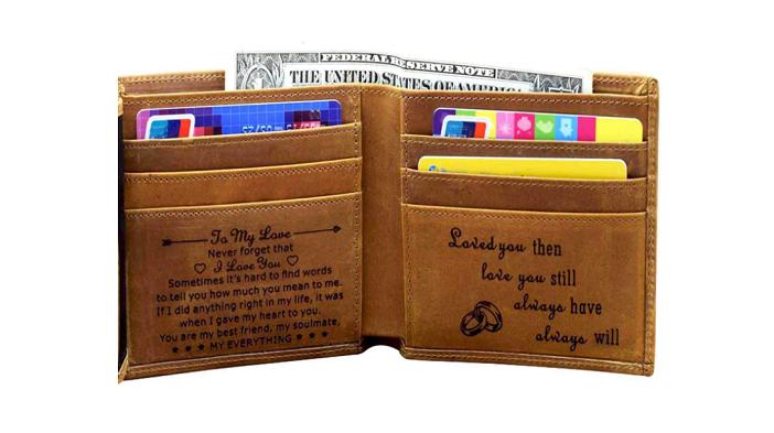 men's personalized wallet