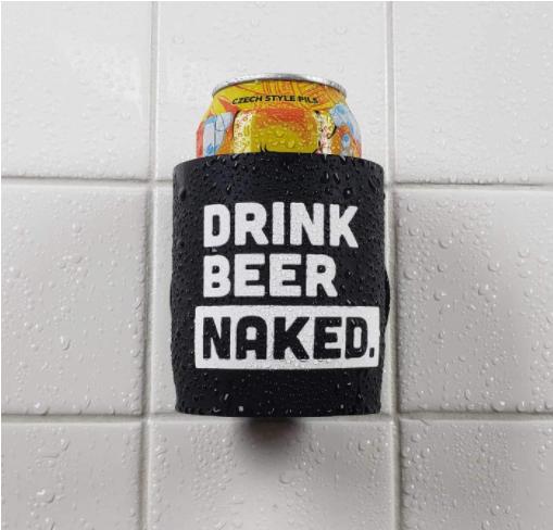 drink beer naked cup holder