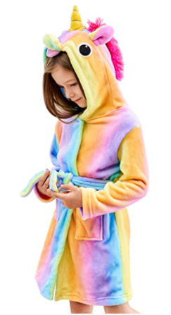 Best Gifts for 9 Year Old Girls unicorn bathrobe