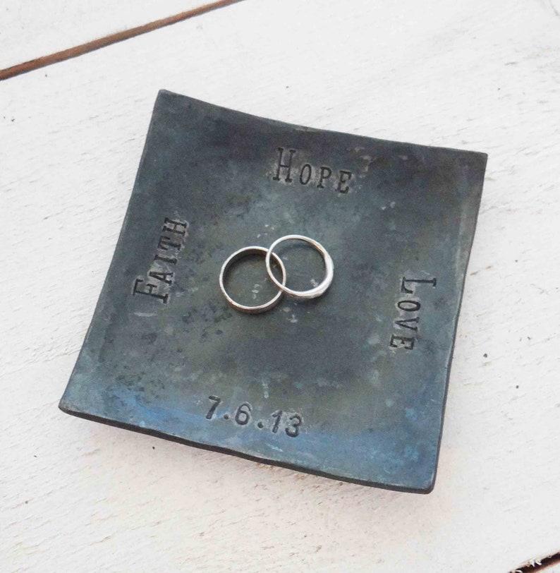 Iron Wedding Ring Dish | Etsy