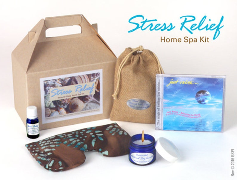 Stress Relief aromatherapy home spa kit | Etsy